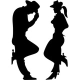 Adesivo Carro Moto Cowboy E Cowgirl Sertanejo Rodeio Viola