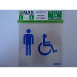 Placa De Sinalização Com Braille Em Alumínio Para Banheiro