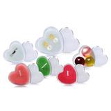 Kit 50 Potes Em Formato De Coração Para Lembranças De Festas