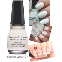 Sinful Colors Snow Me White 101 Esmalte Importado