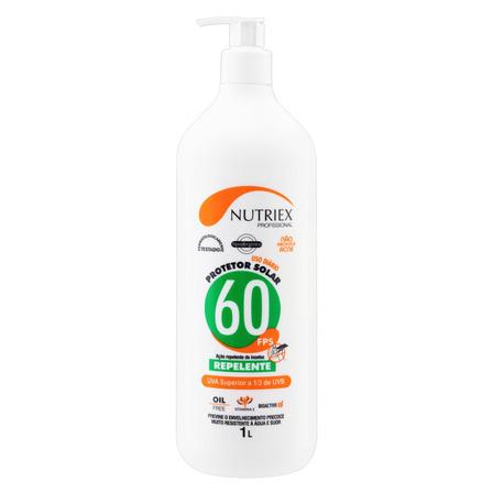 Protetor solar Nutriex Profissional Ação Repelente  FPS60 1l