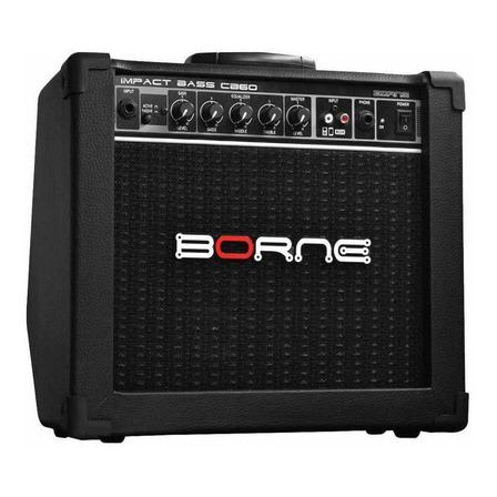 Amplificador Borne Impact Bass CB60 Combo 20W preto 110V/220V