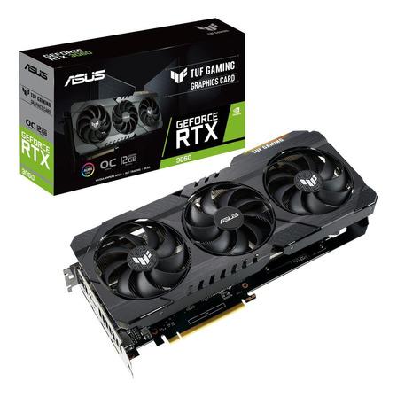 Placa de vídeo Nvidia Asus  TUF Gaming GeForce RTX 30 Series RTX 3060 TUF-RTX3060-O12G-GAMING OC Edition 12GB