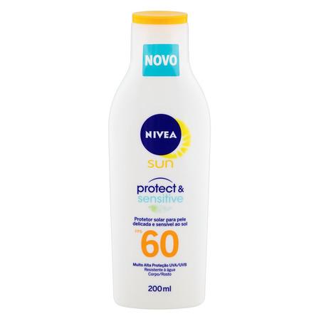 Protetor solar Nivea Sun Protect & Sensitive  FPS60 200ml