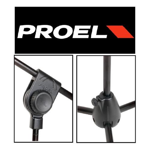 Soporte Pie Microfono No Hercules - Proel Pro200bk El Mejor!
