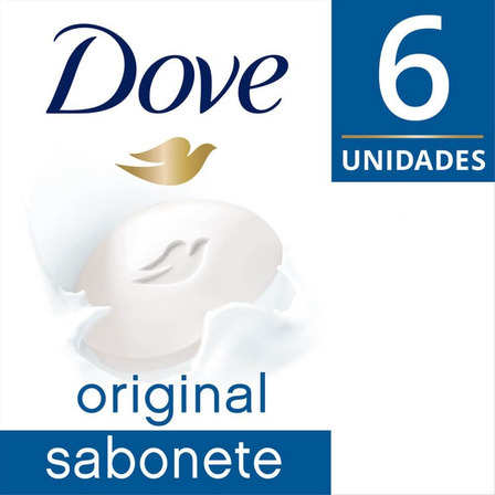 Kit Sabonete Hidratante em Barra Dove 90g com 6 unidades