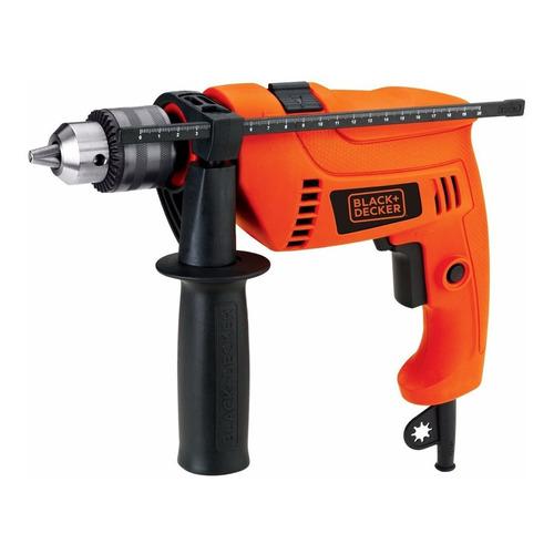 Taladro eléctrico percutor y destornillador Black+Decker HD650 3000rpm 60Hz 650W naranja 120V