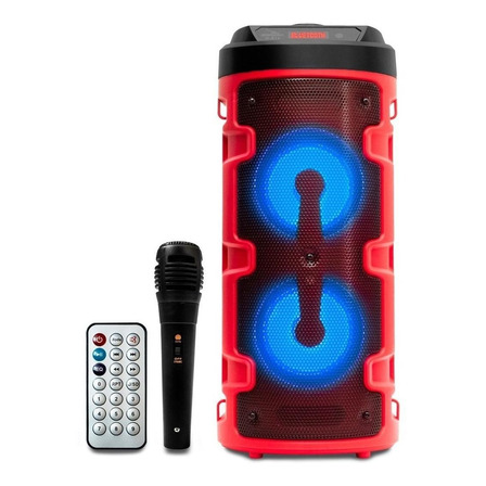 Caixa de som Grasep D-S14 portátil com bluetooth vermelha