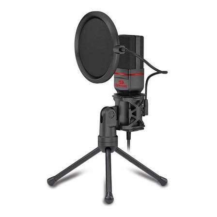 Microfone Redragon Seyfert GM100 condensador  omnidirecional preto