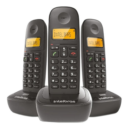 Telefone sem fio Intelbras TS 2513 preto