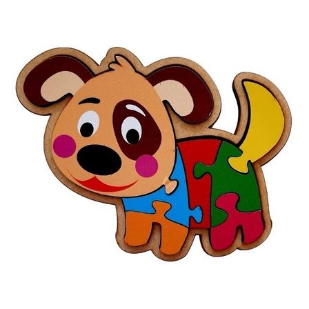 Quebra-cabeça Maninho Cachorro de 7 peças