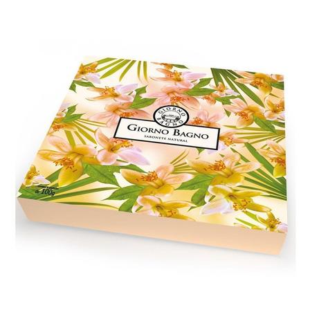 Kit de Sabonete Flor de Laranjeira Giorno com 4 unidades 420g