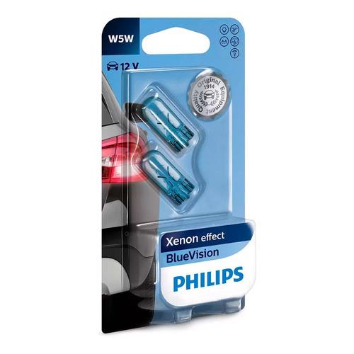 Lamparas De Posicion W5w Philips Blue Vision Pack X2