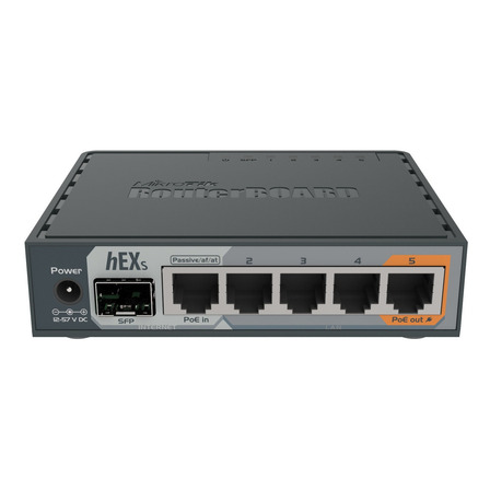 Router MikroTik RouterBOARD hEX S RB760iGS gris 100V/240V 1 unidad