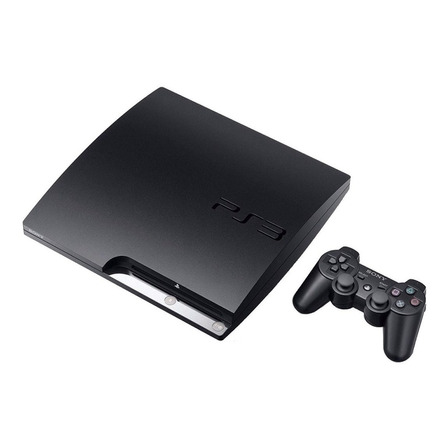 Sony PlayStation 3 Slim 160GB Standard  color charcoal black