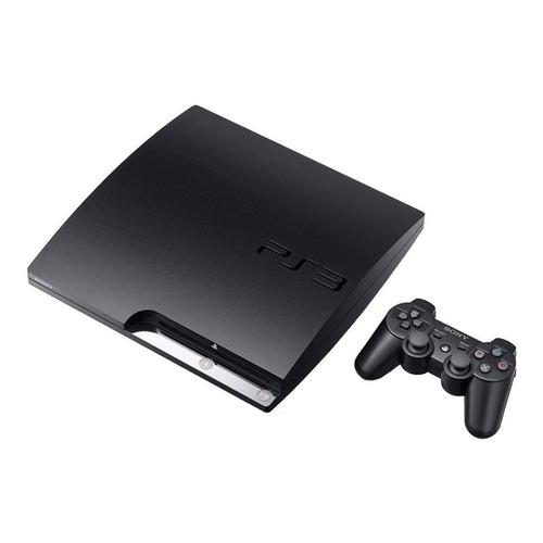 Sony PlayStation 3 Slim 160GB Standard  color charcoal black