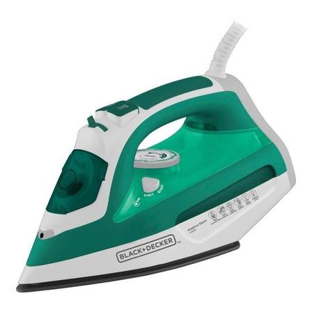 Ferro de passar a vapor Black+Decker AJ3030 cor branco e verde 220V