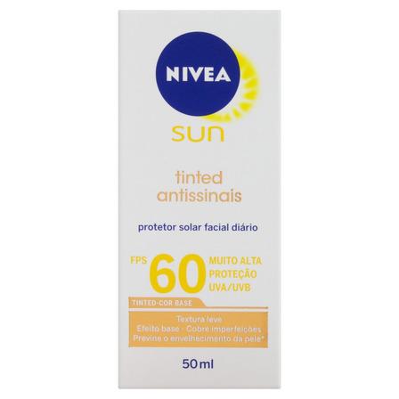 Protetor solar Nivea Sun Tinted Antissinais  FPS60 50ml