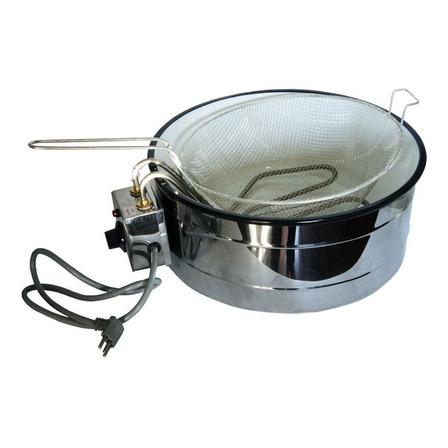 Fritadeira industrial Distak Equipamentos Elétrica 3 L com Termostato prateada 220V
