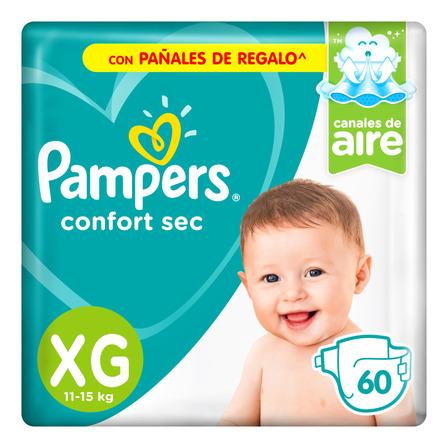 Pañales Pampers Confort Sec  XG 60u