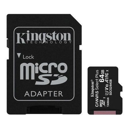 Cartão de memória Kingston SDCS2 Canvas Select com adaptador SD 64GB