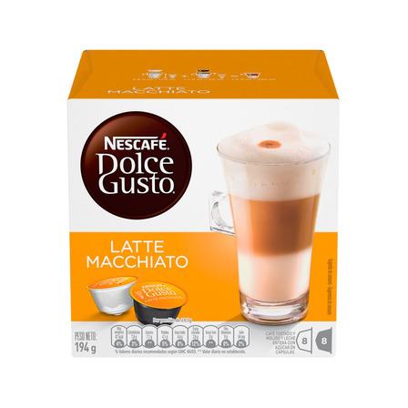Cápsulas de café late macchiato Nescafé Dolce Gusto 16u
