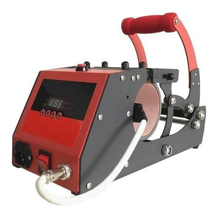 Estampadora sublimadora Policart 4 en 1  negra y roja 220V