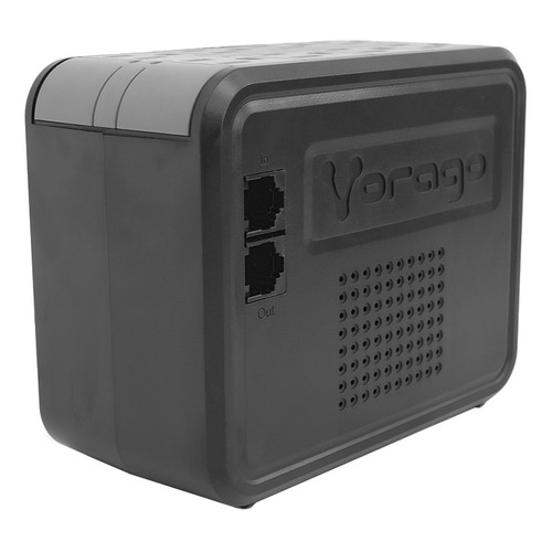Regulador de voltaje Vorago AVR-100 1000VA entrada y salida de 120V CA negro