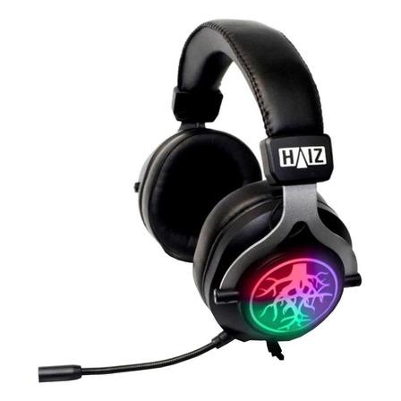 Fone de ouvido gamer Haiz HZ-K20 black com luz LED