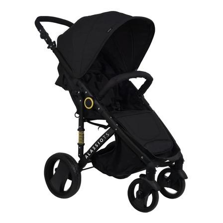 Cochecito de bebé Belluno Baby Alassio de paseo negro