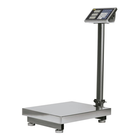 Báscula industrial digital Noval NEP TN 300kg con mástil 100V/240V gris 60cm x 45cm