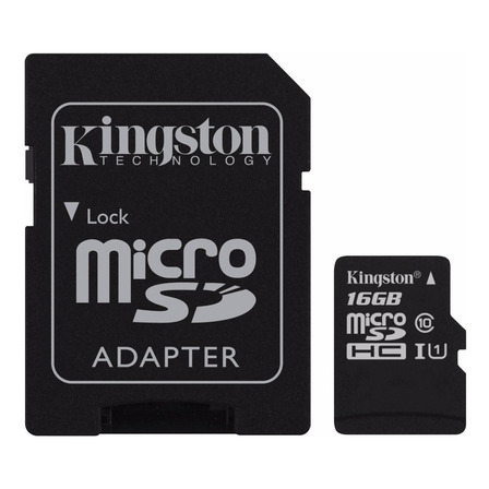 Tarjeta de memoria Kingston SDC10G2 con adaptador SD 16GB