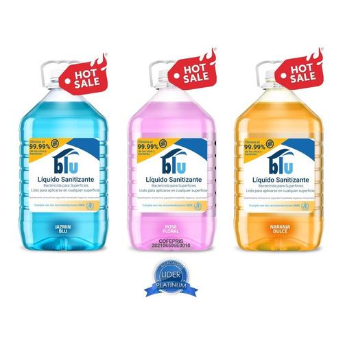 5 Lts Sanitizante Líquido Blu Sales Cuaternarias Cofepris