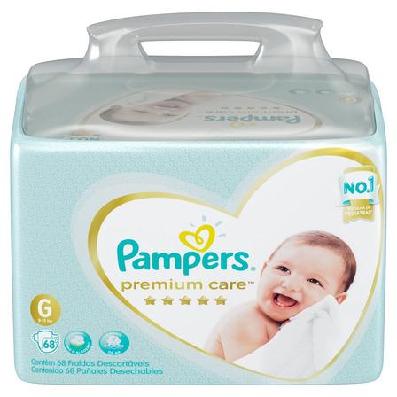Fraldas Pampers Premium Care G 68u