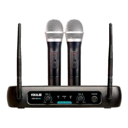Microfones sem fios Vokal VWS-20 Plus dinâmico  unidirecional