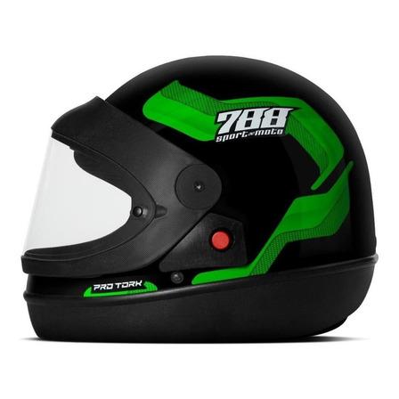 Capacete para moto  integral Pro Tork  Sport Moto  verde 788 tamanho 60