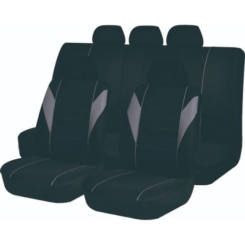 Juego Cubreasiento Universal Auto Negro Gris Fuxia Ix-46