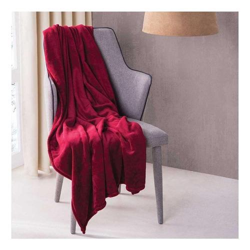 Cobertor Colchas Concord Frazada ultrasuave Frazada liso/Vino