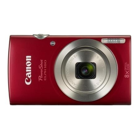 Canon PowerShot ELPH 180 compacta color  rojo