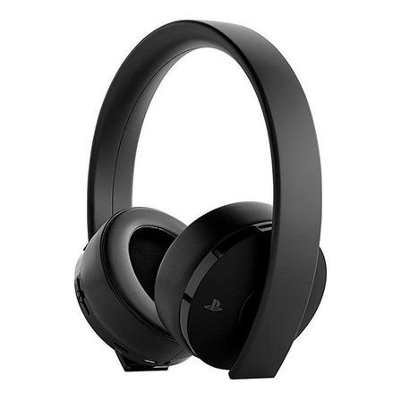 Fone de ouvido gamer sem fio Sony PlayStation Gold black