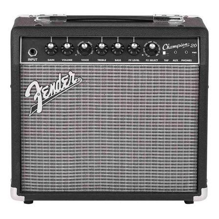 Amplificador Fender Champion Series 20 Valvular para guitarra de 20W color negro/plata 120V