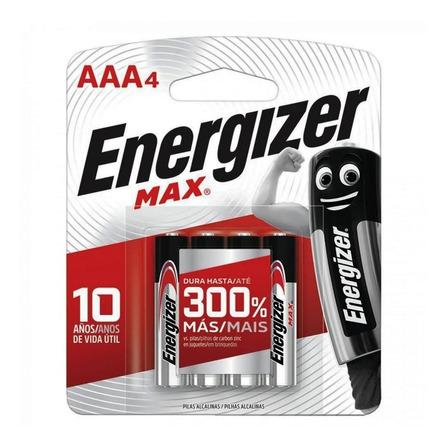Pila AAA Energizer MAX E92 Cilíndrica - Pack de 4 unidades