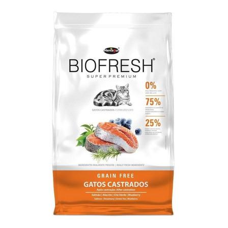 Alimento Biofresh Super Premium Castrados para gato sabor carne/frutas/vegetais em saco de 1.5kg