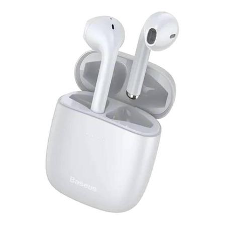 Fone de ouvido In-ear sem fio Baseus W04 branco