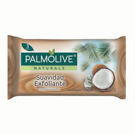 Jabón en barra Palmolive Naturals Coco y Algodón 125g pack x 3