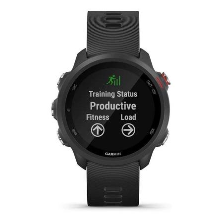 """Smartwatch Garmin Forerunner 245 Music 1.2"""" caixa 42.3mm de  polímero reforçado com fibra pulseira  black de  silicone"""