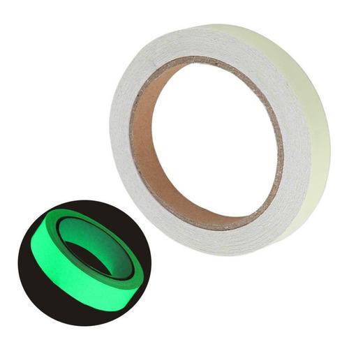 Cinta Adhesiva Fluorescente Fosforescente Escalera Y+ 20 Mts