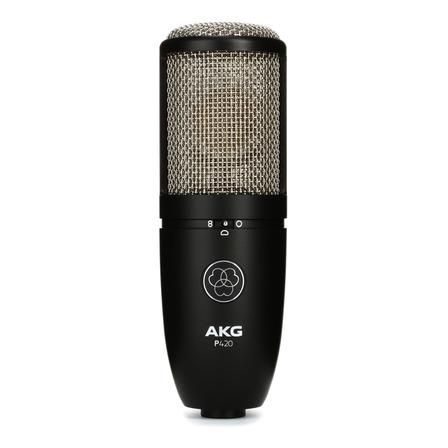 Micrófono AKG P420 condensador  cardioide y omnidireccional negro