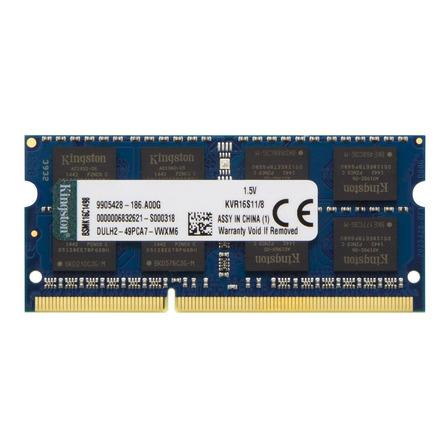 Memória RAM ValueRAM  8GB 1 Kingston KVR16S11/8