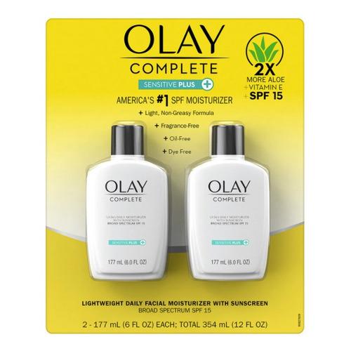 Olay Crema Facial Hidratante Con Fps 15 Sensitive Plus 2 Pza